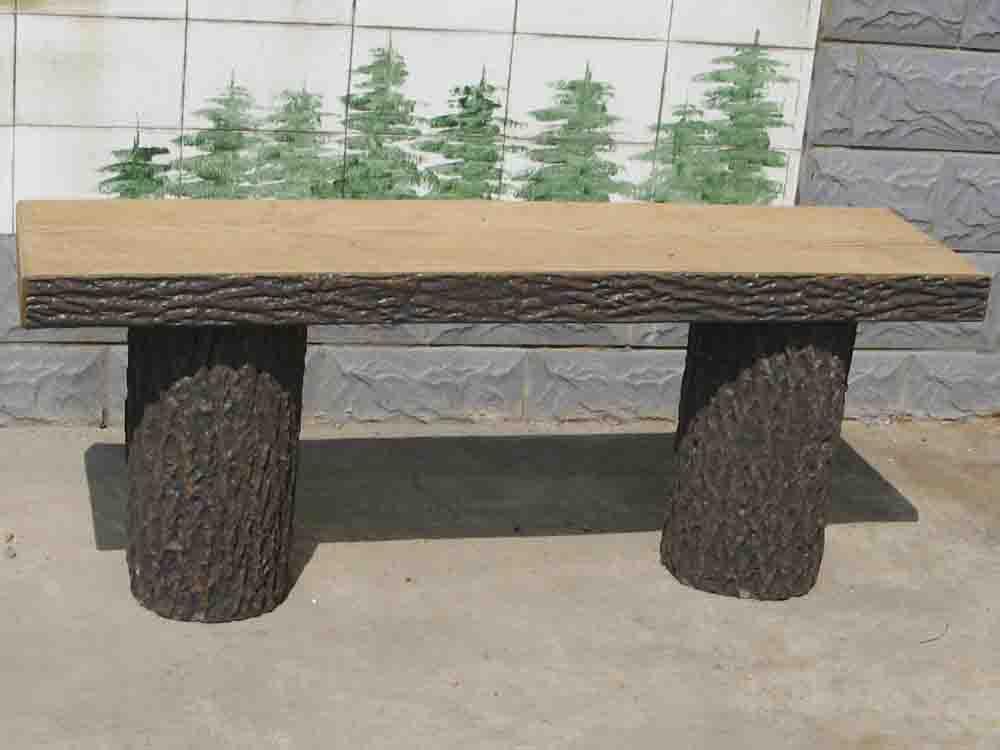 供应仿木树皮平凳子图片