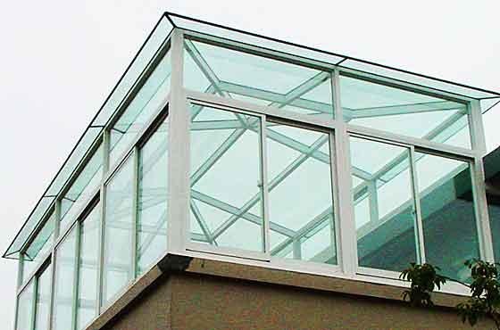 玻璃房效果图顶楼