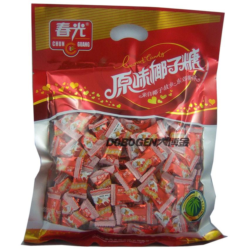 供应海南特产 春光原味椰子糖550g 结婚糖果 婚庆喜糖 零食
