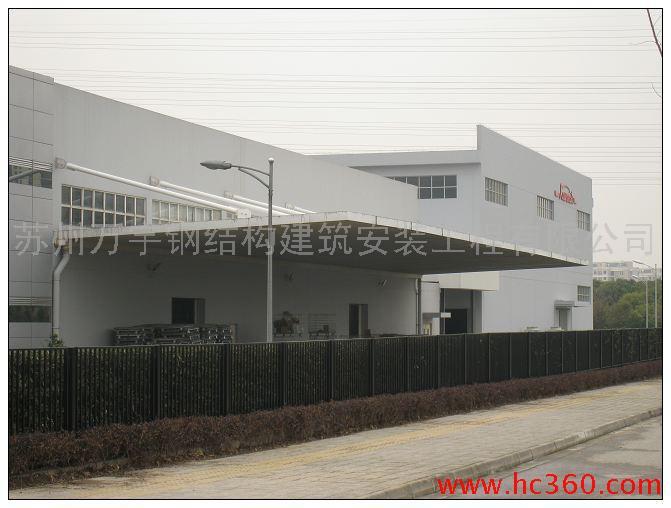 供应苏州雨棚厂房钢结构雨篷图片