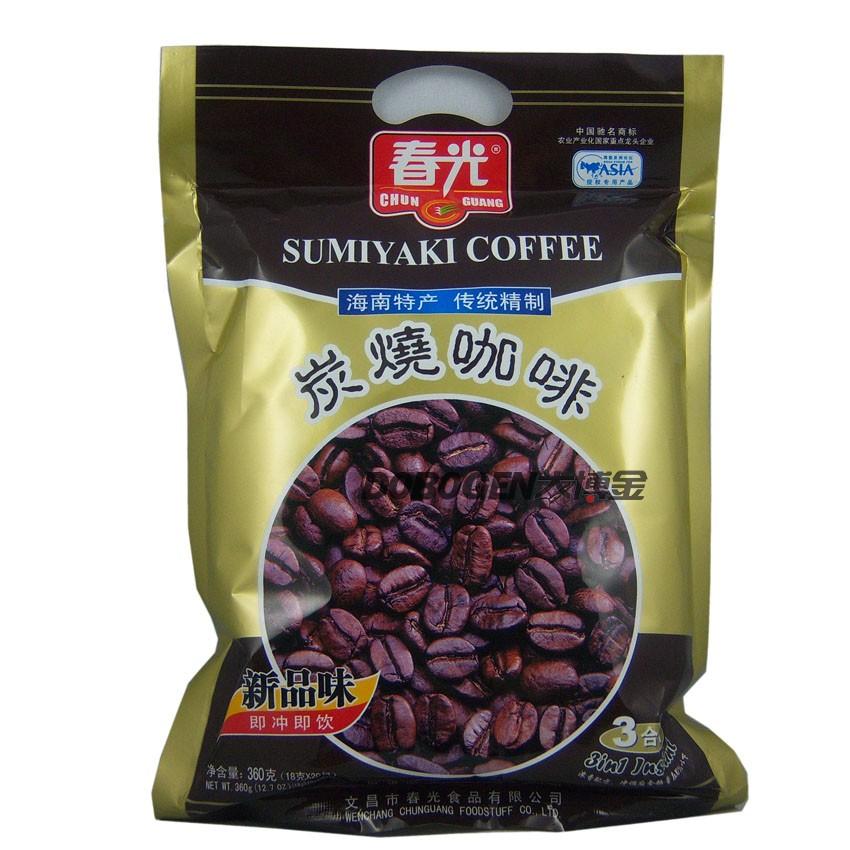海南特产春光炭烧咖啡360g克产品描述:   本产品特选海南著名兴隆