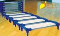 供应幼儿园塑料木条重叠床