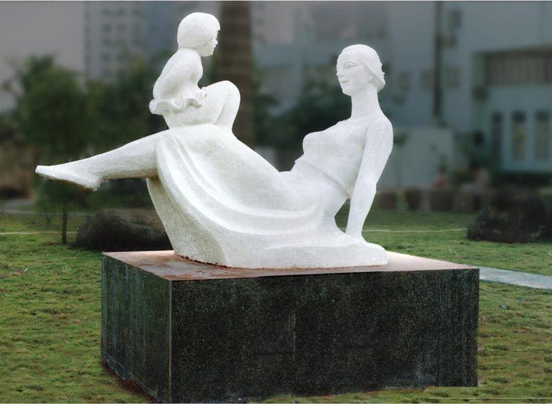 母爱雕塑石雕城市雕塑小区景观雕,景观图片