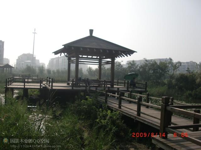 防腐木亭廊桥榭图片