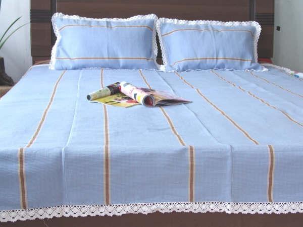 四川老粗布凉席床品三件套床单图片