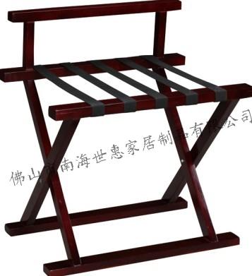 供应M-7红木家具酒店红木行李架置物架