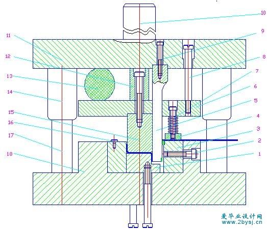 冲压模具结构图解