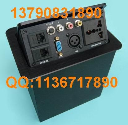 供应重庆那里有卖隐藏式插座桌面信息盒多功能铝合金面板信息盒桌面插图片