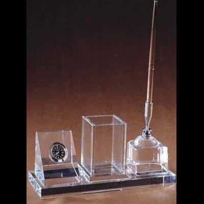 工艺品厂生产供应内雕办公摆件 十周年水晶摆件 山东济南青岛水晶礼品