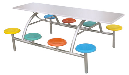 快餐桌椅图片 快餐桌椅样板图 不锈钢快餐桌椅 山东济宁滨