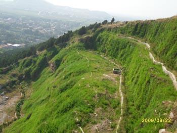 边坡喷草工程施工,护坡生态绿化恢复工程施工,客土喷播 风