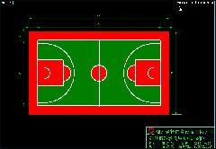 标准篮球场尺寸图   江安新篮球场标准尺寸平面图   网球场新