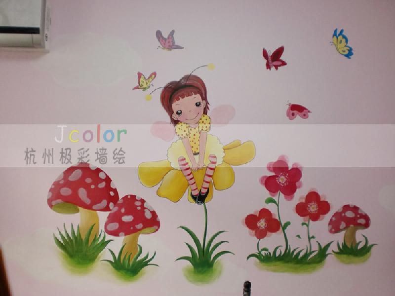 产供应家居墙绘童房手绘