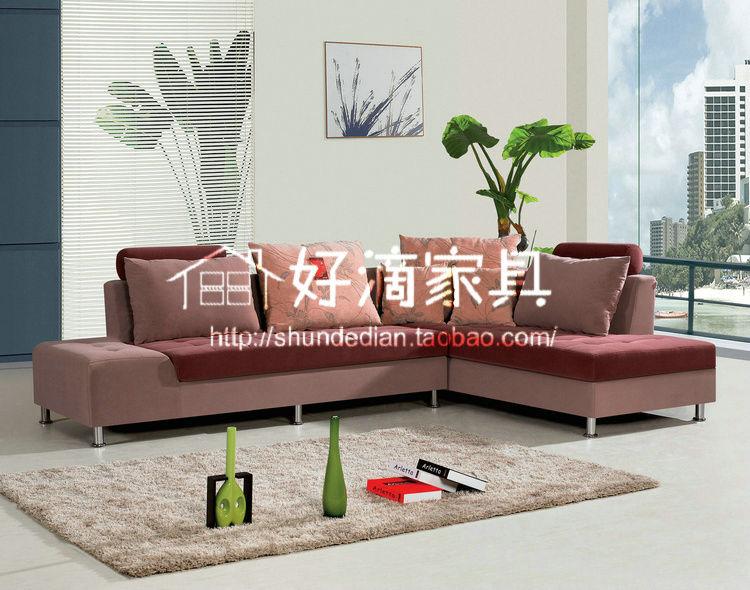 简易现代时尚布艺组合客厅沙发图片