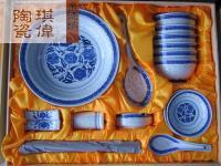 厂家生产销售 景德镇经典青花瓷餐具、青花玲珑餐具 景德镇青花瓷礼