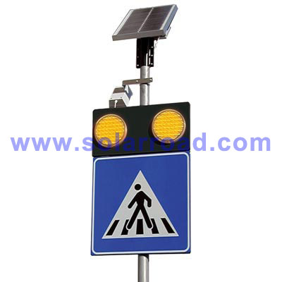led)构成的警示灯•该系统安装在道路的2侧•由雷达器和