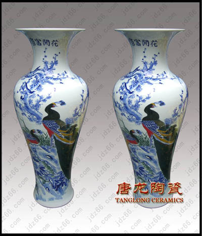 手工雕刻大花瓶景德镇陶瓷大花瓶报价
