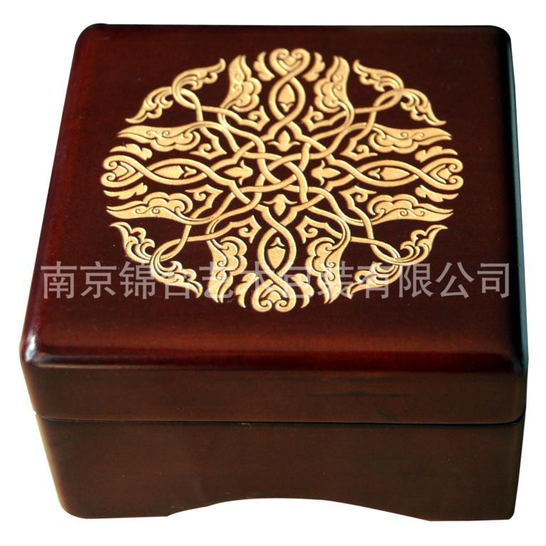 厂家定制:供应各种高档精美木制首饰盒,珠宝盒玉龙堂方形圆角盒批发