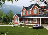 青岛木别墅木屋木框架图片