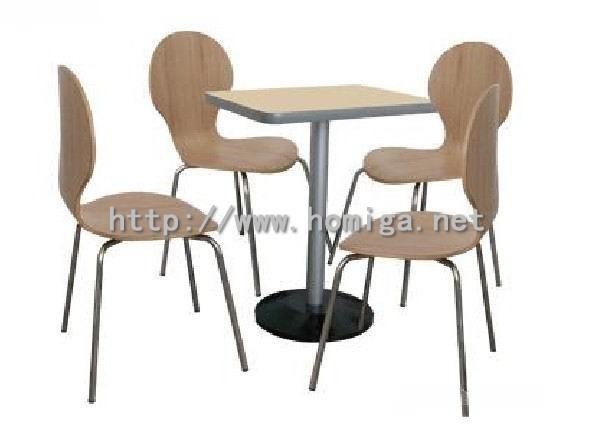 供应弯曲木餐椅餐台,广东弯曲木餐椅餐台家具工厂价格批发