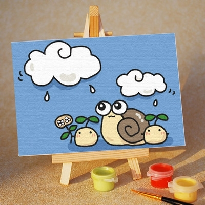 儿童填色画数字油画图片|儿童填色画数字油画样板图