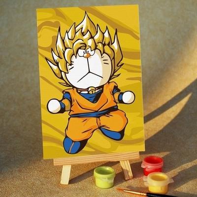 供应儿童填色画数字油画
