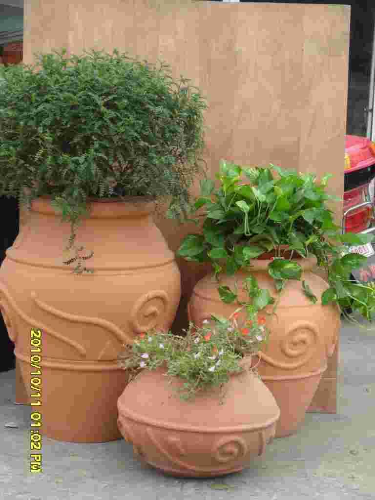 景观陶罐花盆,欧式花盆