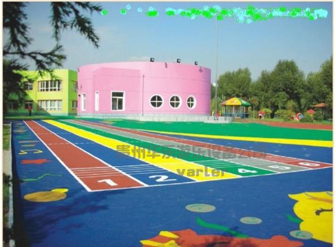 承接塑胶跑道塑胶网球场幼儿园场地图片|承接塑胶