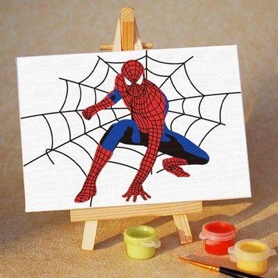 蜘蛛侠卡通数字油图片