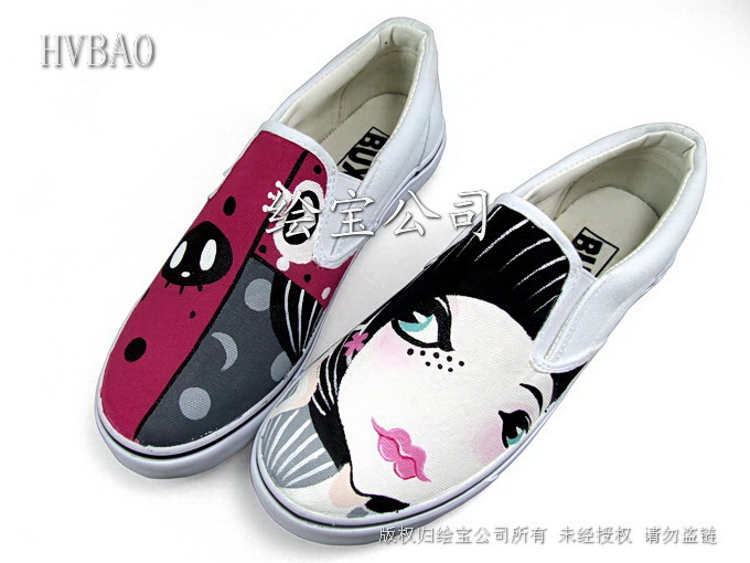 供应2011新款手绘涂鸦鞋,可以代理加盟
