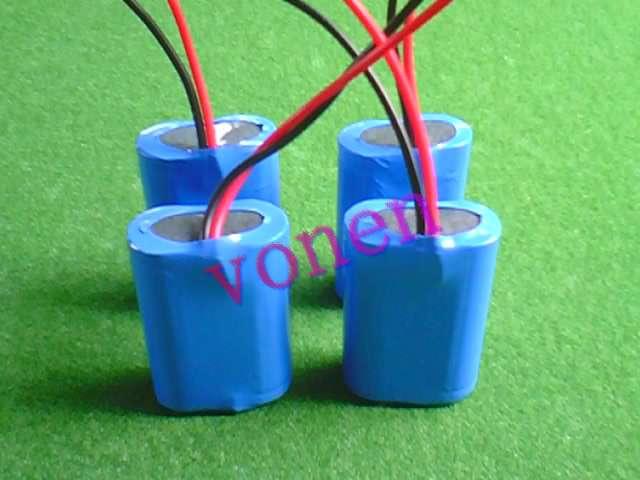 供應17500電動工具鋰電池組7.4V1100MAH