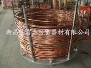 水平连铸法生产铜包钢图片