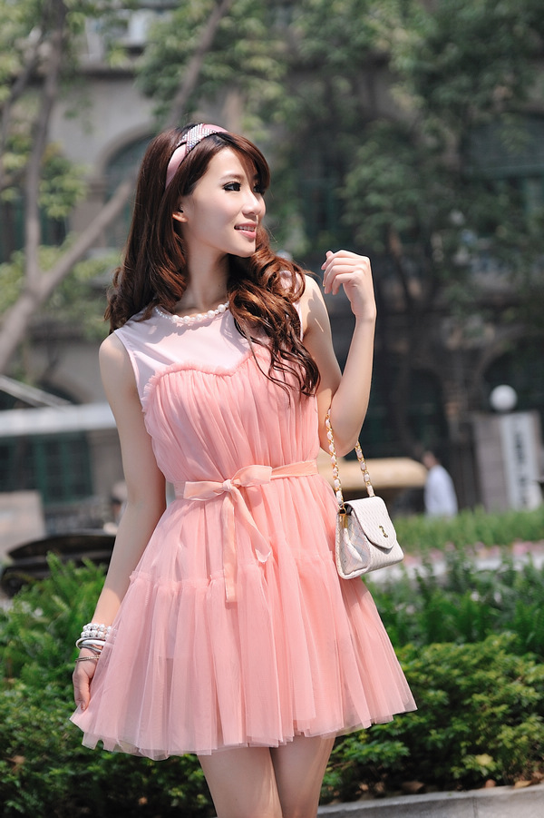 供应2011夏季可爱时尚假两件可爱娃娃装连衣裙033083批发