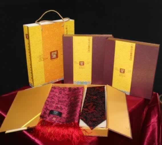 云锦套盒领带围巾图片/云锦套盒领带围巾样板图