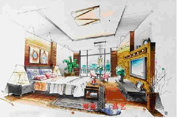 室内设计图片手绘图