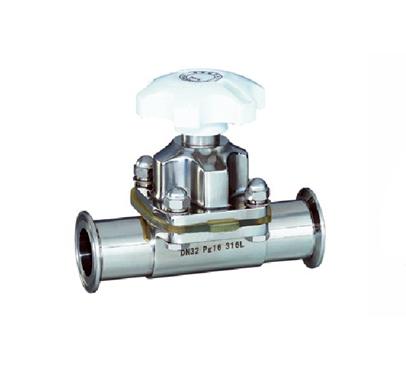 供应江苏省卫生级隔膜阀厂家直销,不锈钢快装隔膜阀