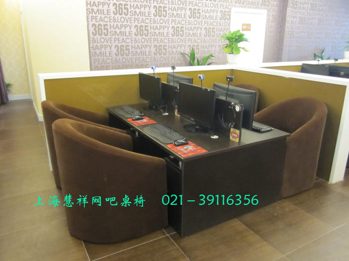 供应上海慧祥网吧桌椅厂网吧台网吧沙发 钢木结构网吧电脑桌椅网吧椅