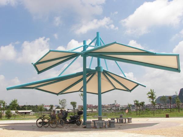 遮阳膜结构设施图片_广东遮阳膜结构设施图片大全