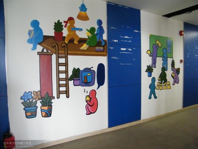 校园文化墙绘图片