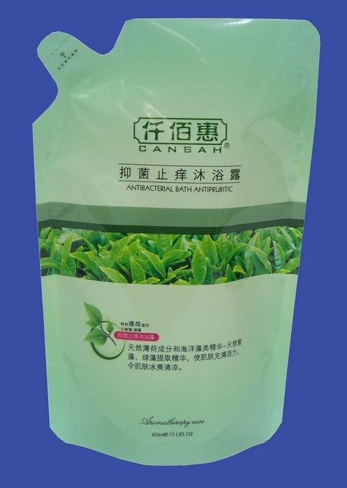 供应125ml沐浴露仿嘴型液体包装袋