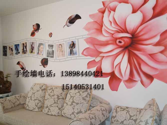 超凡手绘壁画工作室生产供应花类墙画02