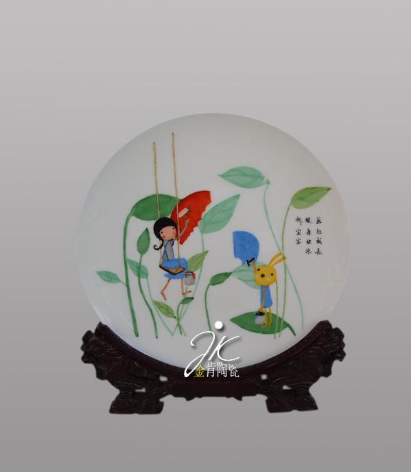 纸盘子装饰画动物图片