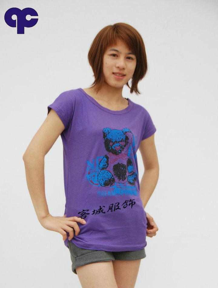 供应时尚长款T恤批发2011女性韩版批发