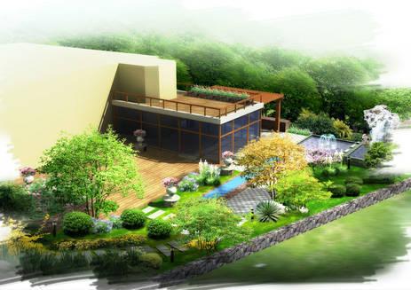 别墅园艺设计图片