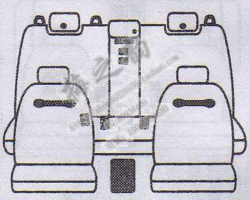 供应一汽丰田皇冠07款汽车座套样板批发