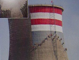 供应沈阳电厂冷却塔修建防腐