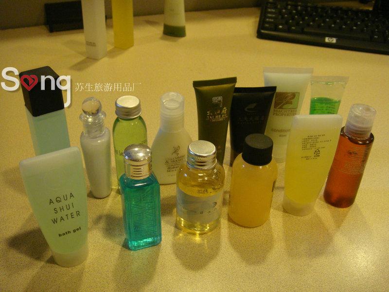 供应定做高档客房一次性洗浴用品/扬州生产酒店一次性洗发液沐浴液体批发
