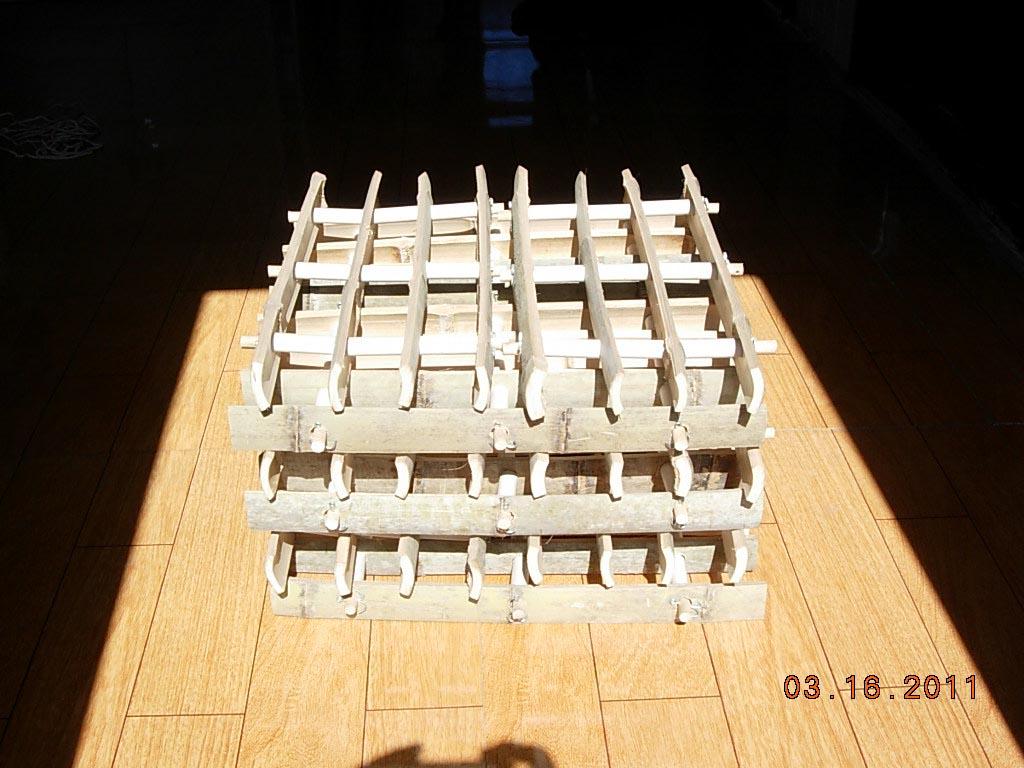 用于电厂冷却水塔的竹网格填料