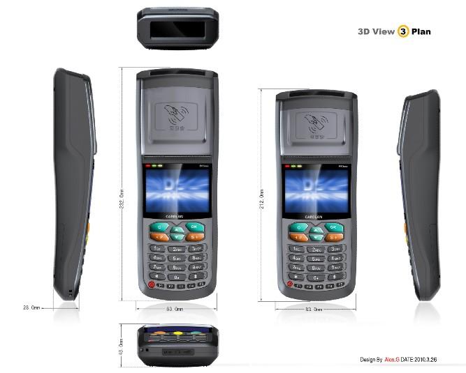 手持POS机图片 手持POS机样板图 GPRS公交手持POS机 ...