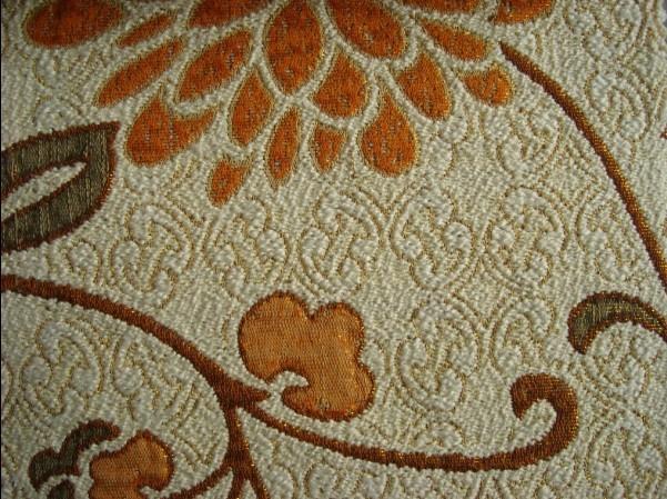 涤棉金丝提花沙发布窗帘座椅布